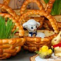 Wielkanocne koszyczki drożdżowe