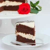 Devil cake with mascarpone