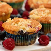 Fruit Muffins with Streusel