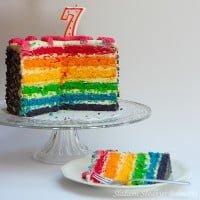 Tort tęczowy (rainbow cake)
