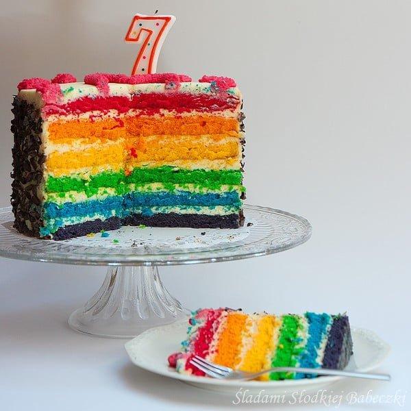 Tort tęczowy
