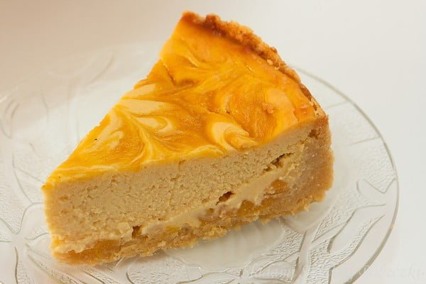 Cheesecake With Mango Traces Of Sweet Muffins