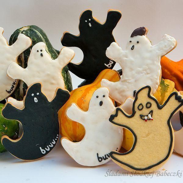 Kruche maślane ciasteczka na Halloween