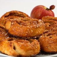 Danish pastries with apple