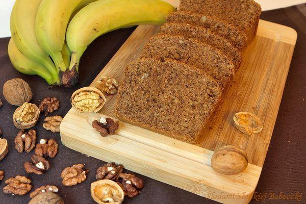 Ciasto orzechowo-bananowe