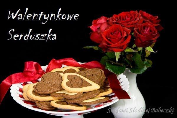 Ciasteczka - Serduszka Walentynkowe / Valentine's Day cookie hearts