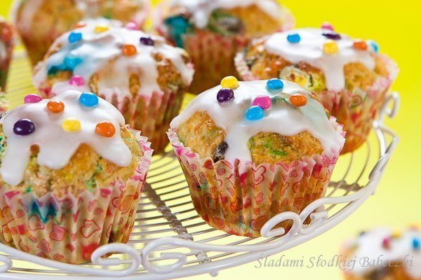 Muffinki z m&m'sami / Muffins with m&m's