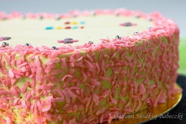 Tort z kremem mascarpone-kajmakowym / Sponge cake with mascarpone-caramel cream