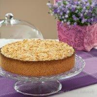 Ciasto z musem rabarbarowym i budyniem / Rhubarb Cream Cake
