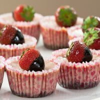 Strawberry Miniserniczki / Strawberry mini-cheesecakes