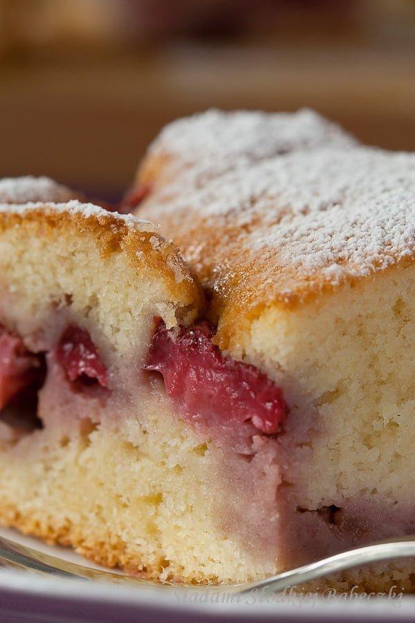 Szybkie ciasto z truskawkami / Easy strawberries cake