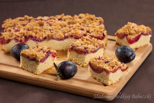 Ciasto śliwkowe z cynamonową kruszonką | Plum cake with cinnamon crumble