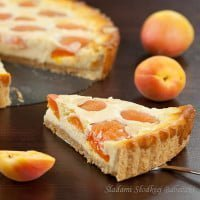 Tart with apricots / Vanilla cheese and apricot tart