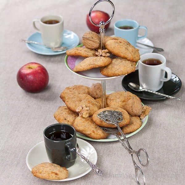 Ciasteczka jabłkowo – orzechowe