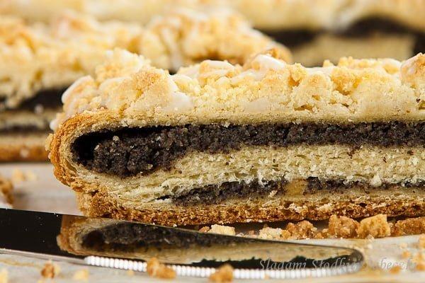 Makowe ciasto z kruszonką   Poppy seed cake with streusel