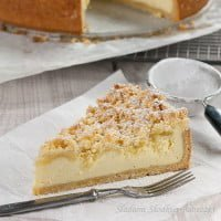 Sernik z kruszonką | Streusel cheesecake