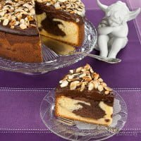 Łaciate ciasto z gruszkami | Spotted cake with pears