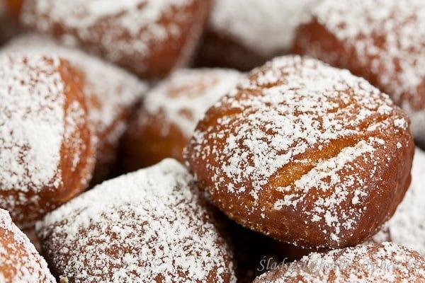 Schmalzgebäck - kwadratowe pączusie | Schmalzgebäck - German donuts