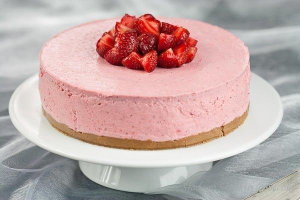 Truskawkowy sernik na zimno | Strawberry cheesecake cold