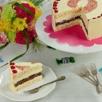 Cake with white chocolate | Birthday cake with white chocolate