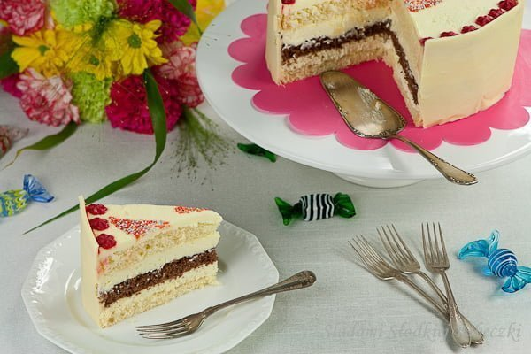 Tort z białą czekoladą | Birthday cake with white chocolate