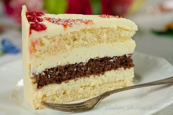 Tort z białą czekoladą   Birthday cake with white chocolate