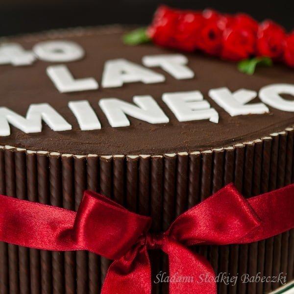 Tort czekoladowo-miętowy Pafki