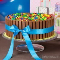 Tort z kremem milky way | Birthday cake with cream milky way