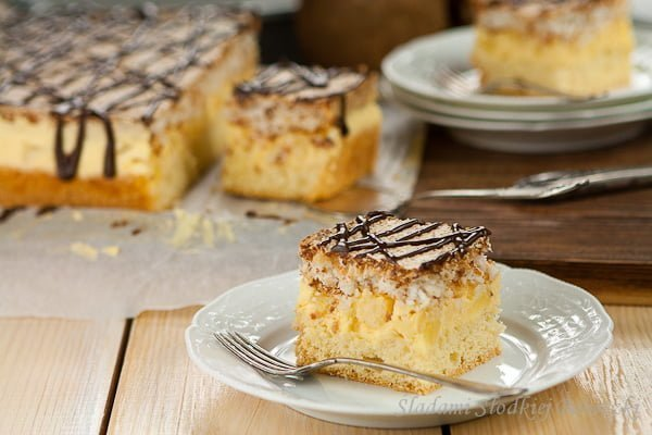 Ciasto ananasowo - kokosowe | Pineapple and coconut cake