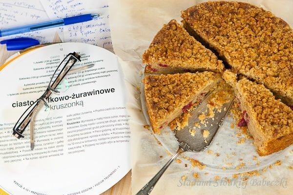 Ciasto z jabłkami i żurawiną | Cake with apples and cranberries
