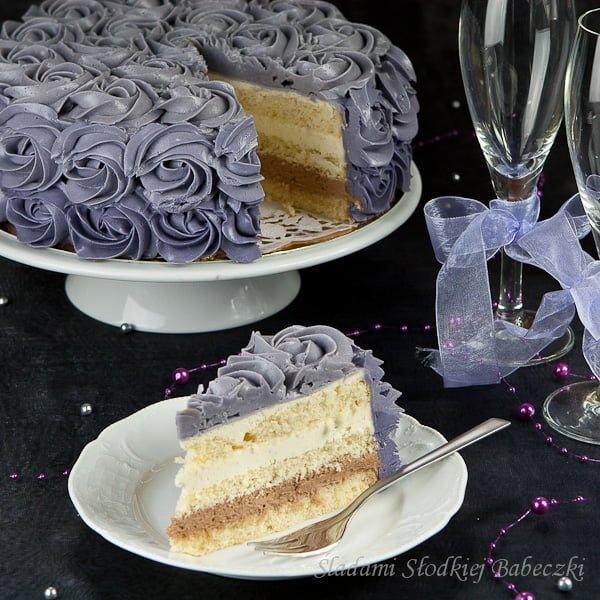 Tort nutellowo-waniliowy
