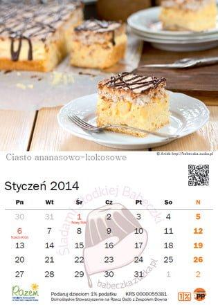 Słodki Kalendarz 2014 - styczeń