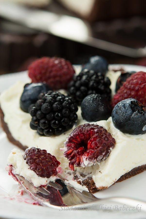 Tart with mascarpone without baking
