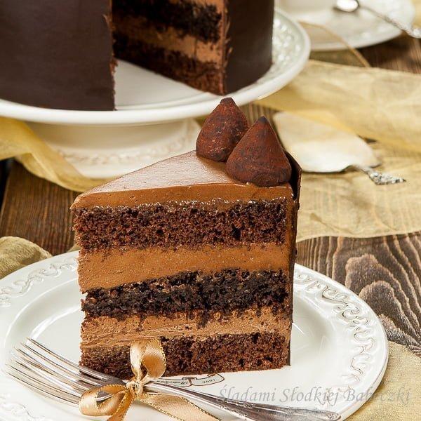 Tort czekoladowo – truflowy