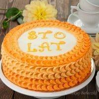 Tort z dekoracją w łuske
