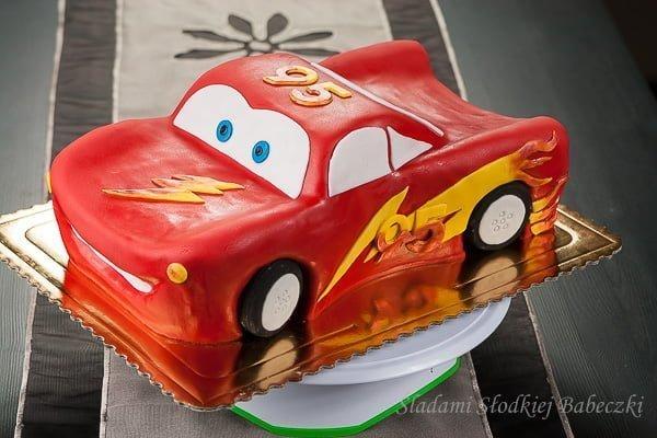 Lightning McQueen Cake - krok po kroku