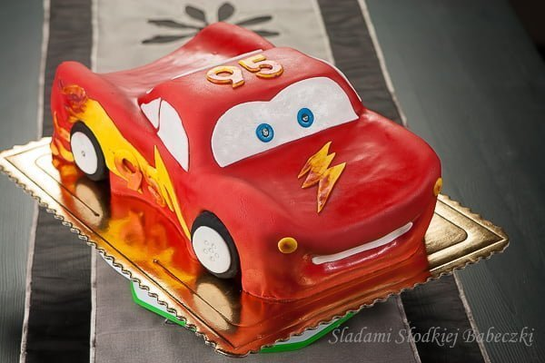 Tort ZygZak McQueen - krok po kroku