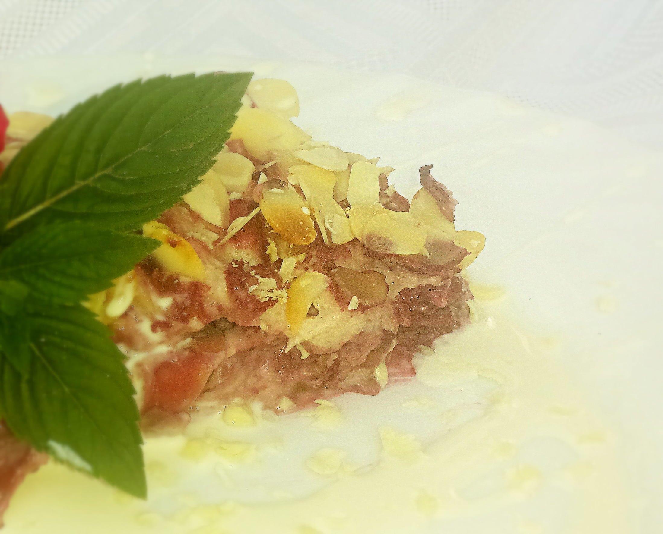 fruit lasagna, z serkami Almette Fruit i kaszką manną